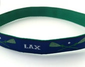 Preppy Boys Lacrosse Belt - New style with LAX Lettering