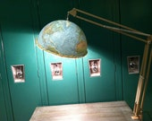 Handmade Repurposed School room globe Lamp