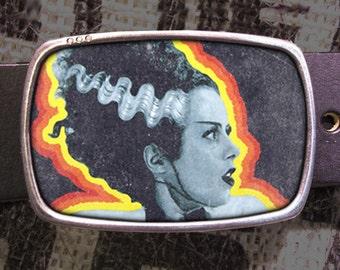 Bride of Frankenstein Belt Buckle 715