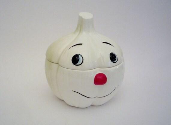 Vintage Garlic Pot