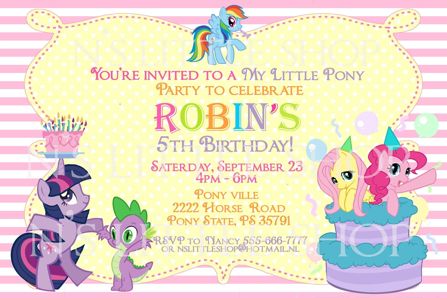 My Little Pony Birthday Party Invitation Ideas Inspired