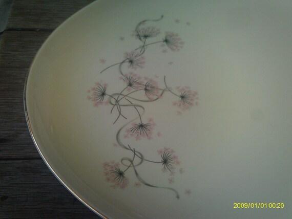Vintage Taylor Smith Taylor Pink Lace Platter