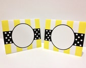 Striped and Polka Dot Tent Cards