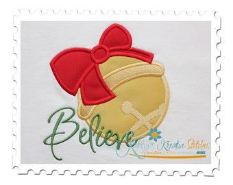 Believe Jingle Bell Applique