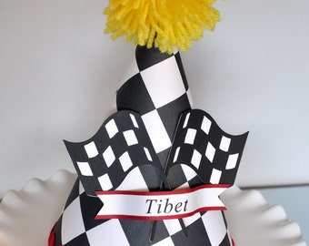 Boy's Race car Birthday Hat, Special Occasion, Dress up