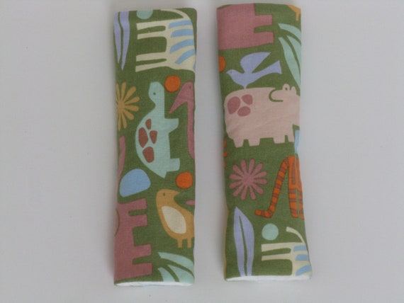 Green Animal Safari Car Seat Strap Covers