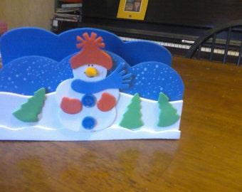 Holiday/Winter napkin holder