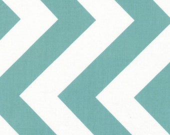 SALE - Half Moon Modern by Moda - Chevron in Aqua - Cut Options Available