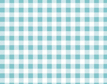 SALE - Polka Dot Stitches by Bee in My Bonnet for Riley Blake Designs - Gingham in Blue
