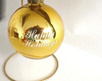 Vintage Advertising Christmas Ornament, Collectible Ornament, Sheraton Casino Memorabilia Souvenir, Glass Ornament, Vintage Holiday Decor