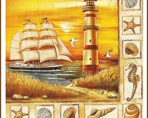 Lighthouse Decoupage Paper Napkins -  Use For Decoupage, Mixed Media, Scrapbooking, Collage And Altered Art Projects