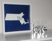 Wedding Map Personalized Wedding Gift  State Map Art - FRAMED ART  Print - Any Location Worldwide -  Wedding Gift Wedding Present