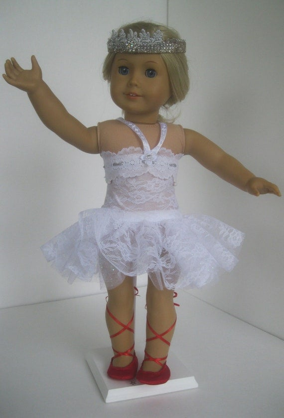 The Red Shoes Ballet Dress Tutu Costume fits American Girl 18 inch soft-bodied dolls