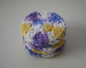6 Violet Veil Ombre Crocheted Cotton Facial Scrubbies