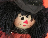 Halloween/Fall Witch Rag Doll Esmerelda