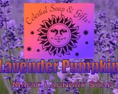 Lavender Pumpkin Natural VEGAN Laundry Soap Powder Bag - 40-80 Loads Gross Wt. 44 oz.