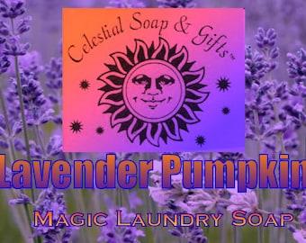 Lavender Pumpkin Natural VEGAN Laundry Soap Powder Bag - 40-80 Loads Gross Wt. 44 oz.