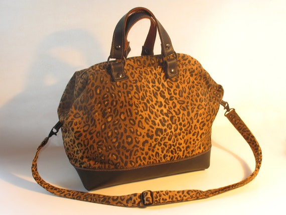 Leopard Print and Leather Mason Bag