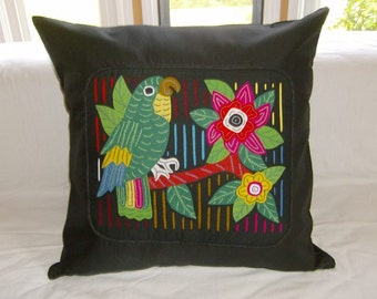 23 x 23 Black embellished pillow cover 205