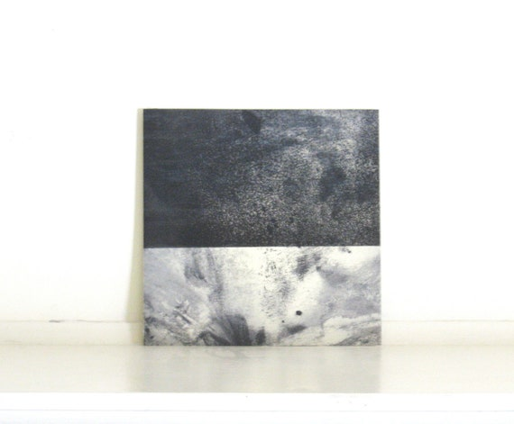 Etching Print / Color Block : Terrain 39 (in Dark Navy and White)