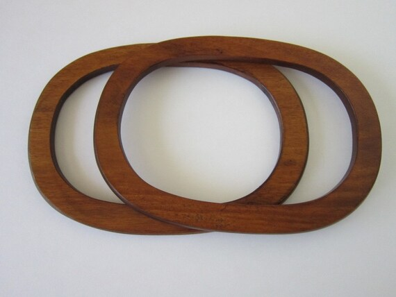 Wood Oval Purse Handles for Bags Totes