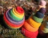 Felted Rainbow Nesting & Stacking Bowls - CROCHET PATTERN only