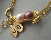 Two peas in a pod, Mauve, Bridesmaids gift, Friendship bracelet, Expectant mom, Wedding gift, for in Laws, Holiday gift