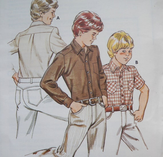 Boys Dress Shirt Button Down Pattern Kwik Sew 1191 By