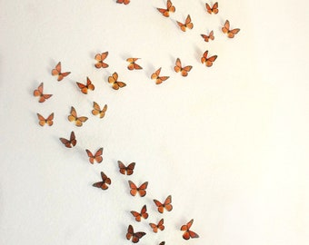 3D Wall Monarchs- set of 50
