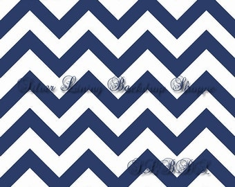 LARGE 6ft x 6ft  Vinyl Photography Backdrop / Navy Blue Chevron