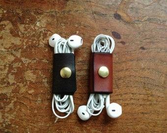Leather Earphone Case.