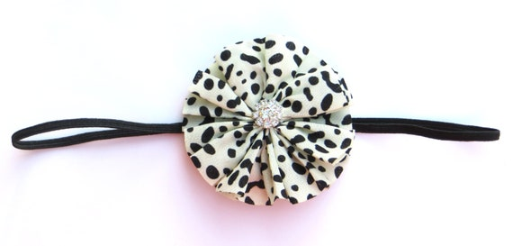 Leopard TWIRL COLLECTION Boutique Headband with rhinestone on Skinny elastic -  Spring, Summer