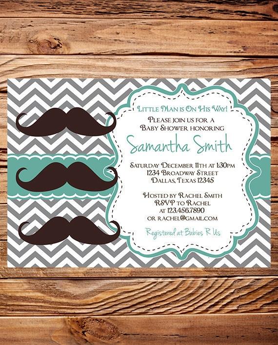 Mustache baby shower invites diabetesmangfo mustache baby shower invitation mustache boy shower little baby shower filmwisefo