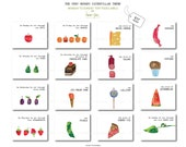 The Very Hungry Caterpillar tent food Labels (Monday to Sunday) Printable file