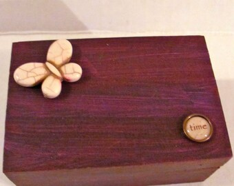 White Butterfly Trinket Box