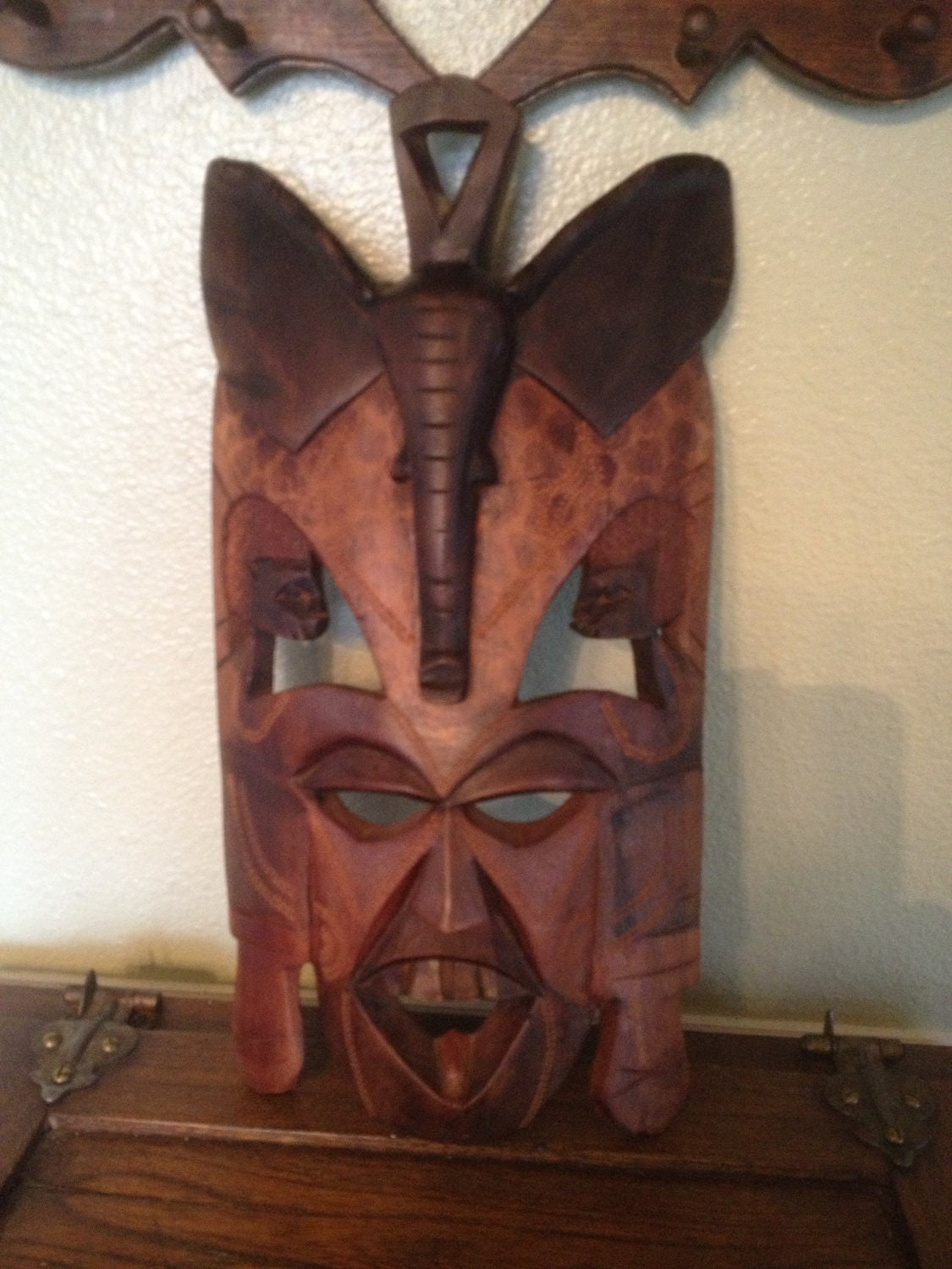 African Masks Sale Hand Carved Elephant Mask Wall Hanging