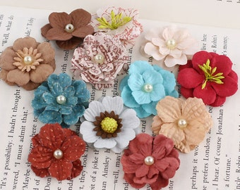 Prima  flowers - Perle Bebe Collection - 555962 En Frances  - mulberry paper  flowers- embellishments cardmaking album journal and more