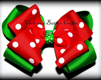 Christmas hair bow Perfect for The holiday season and for babys first Christmas