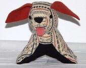 Toy Dog Small Wool Stuffed Hand Made Machine Embroidery