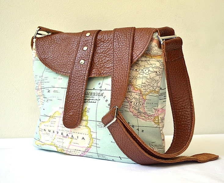 10 christmas gift ideas for travelers wild junket adventure travel leather messenger world map shoulder bag gumiabroncs Image collections