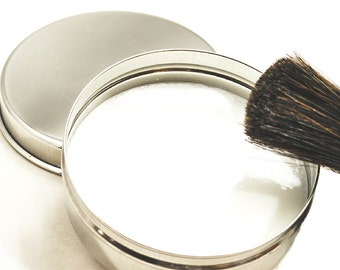 Travel Shaving Soap in Stainless Steel Bowl with Lid for Father's Day