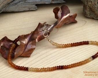 Hessonite Garnet Necklace/ Halskette aus Hessonit Granat