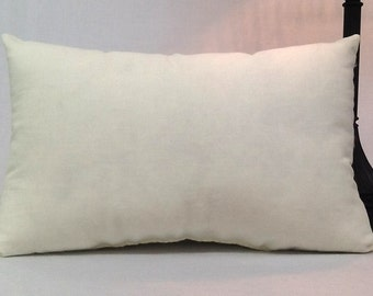 12 inch x 20 inch Pillow - Faux Down pillow insert