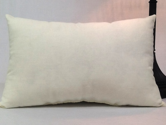 10 inch x 16 inch pillow faux down pillow insert
