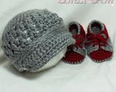 Baby Boy Crochet Pattern Includes Little Sport NEWSBOY HAT and Little Sport SADDLES digital