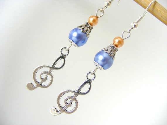 The sound of music- sol key charm affordable  earrings