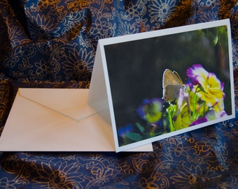 "One single, 5 1/2 x 7 3/8 Blank Photo Notecard with Envelope, ""Midsummer Night's Dream"""