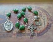 Saint Patrick Shamrock Beads Pocket Rosary