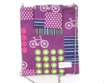 Bicycle iPad Cover, Back to School ipad Sleeve, ipad Case, Purple iPad, New iPad cover, Bicycle Print iPad Case