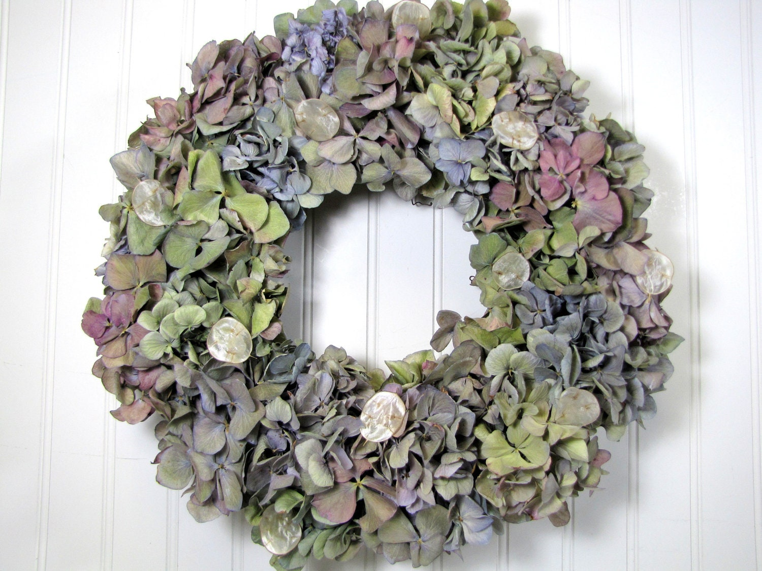 Natural hydrangea wreath dried floral wreaths